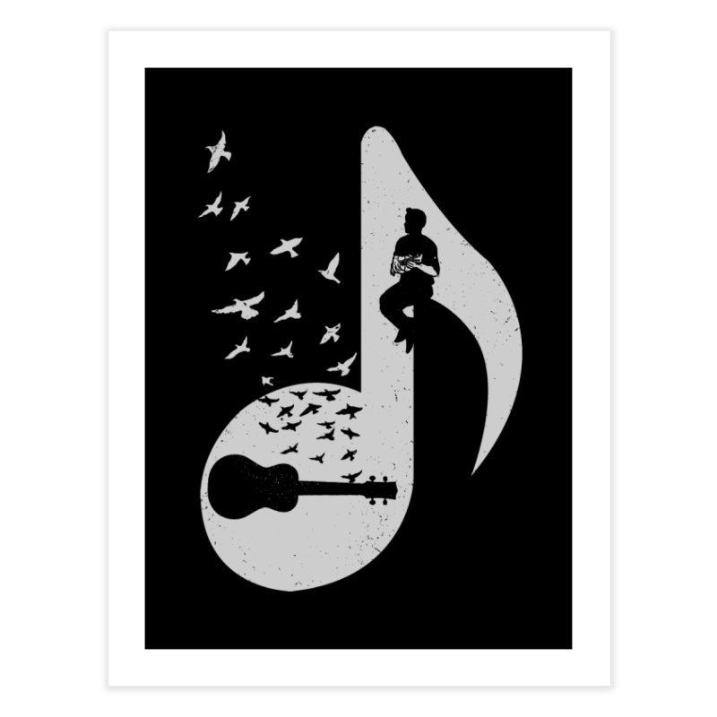 Musical note - Ukulele Home Fine Art Print by barmalisiRTB