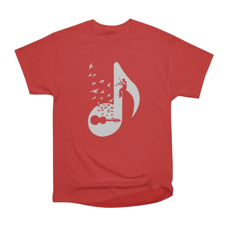 Musical note - Viola Damore Men's Heavyweight T-Shirt by barmalisiRTB