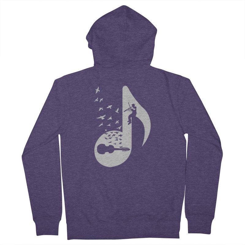 Musical note - Viola Damore Men's Zip-Up Hoody by barmalisiRTB