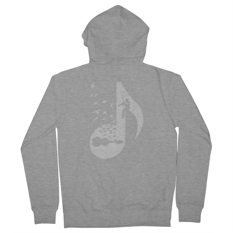 Musical note - Viola Damore Men's French Terry Zip-Up Hoody by barmalisiRTB