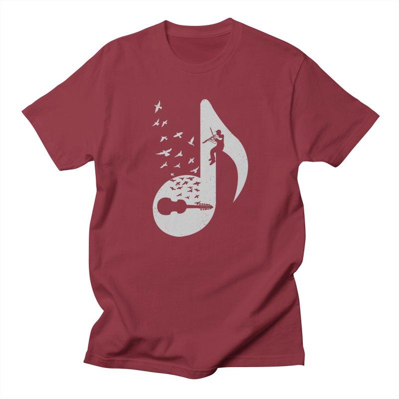 Musical note - Viola Damore Men's T-Shirt by barmalisiRTB