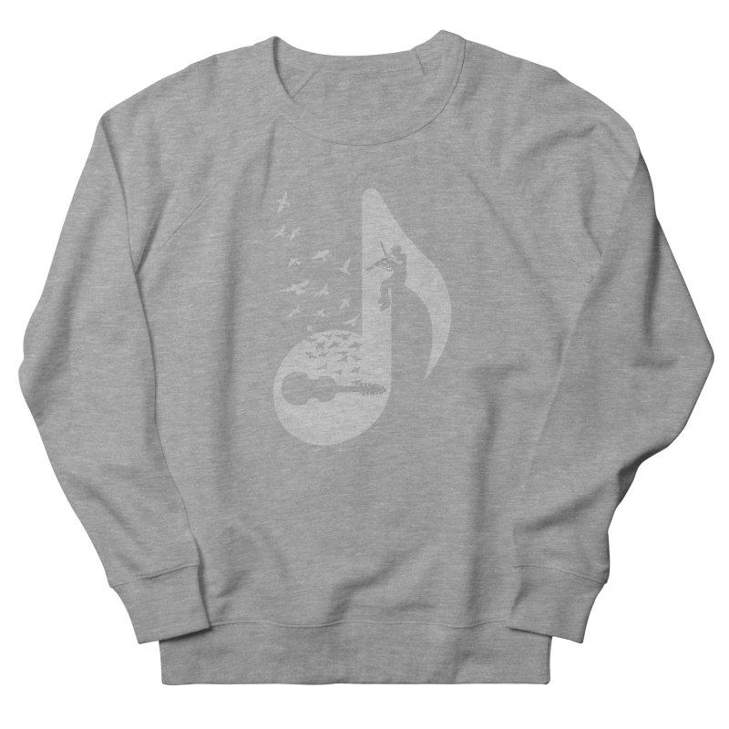 Musical note - Viola Damore Men's French Terry Sweatshirt by barmalisiRTB