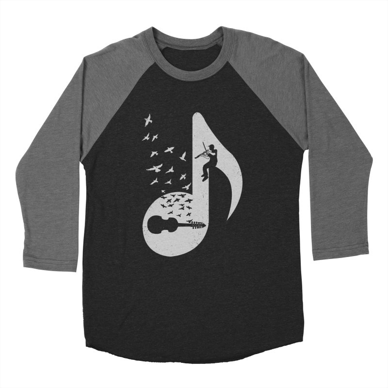 Musical note - Viola Damore Men's Baseball Triblend T-Shirt by barmalisiRTB