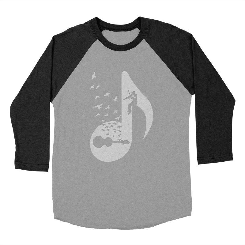 Musical note - Viola Damore Men's Baseball Triblend T-Shirt by barmalisiRTB
