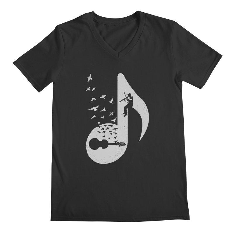 Musical note - Viola Damore Men's V-Neck by barmalisiRTB