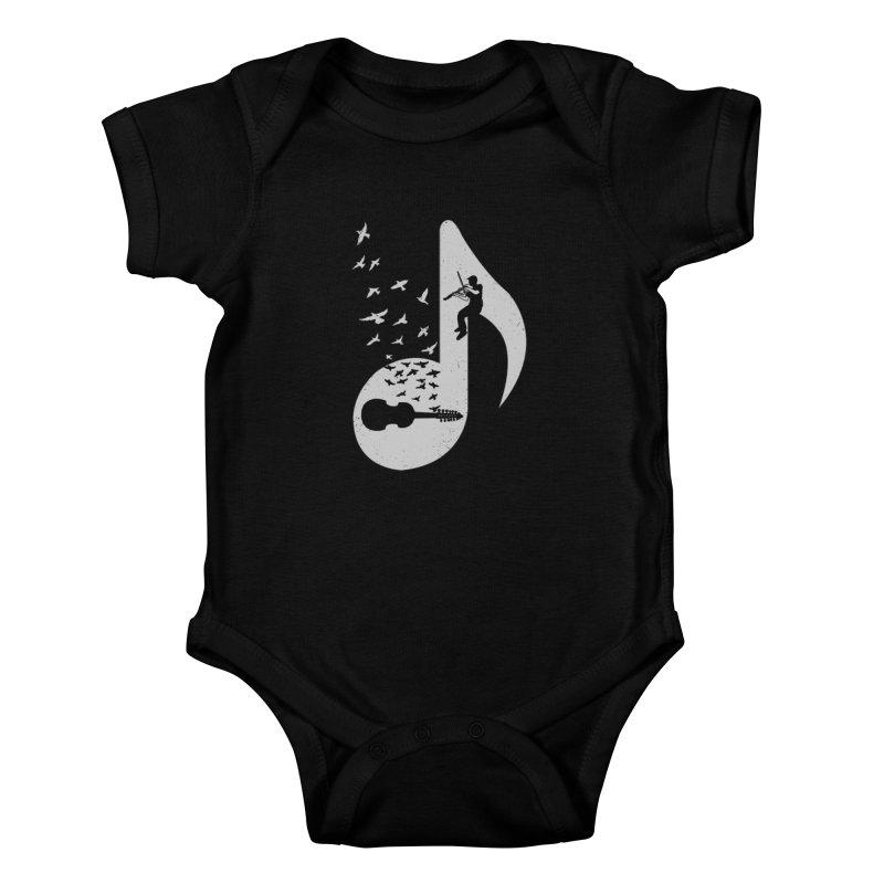 Musical note - Viola Damore Kids Baby Bodysuit by barmalisiRTB