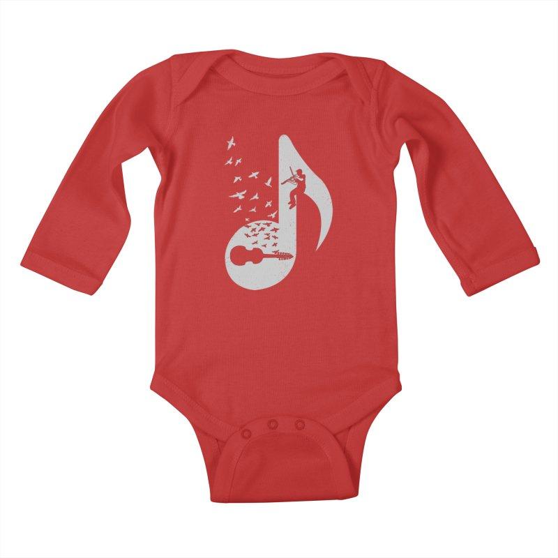 Musical note - Viola Damore Kids Baby Longsleeve Bodysuit by barmalisiRTB