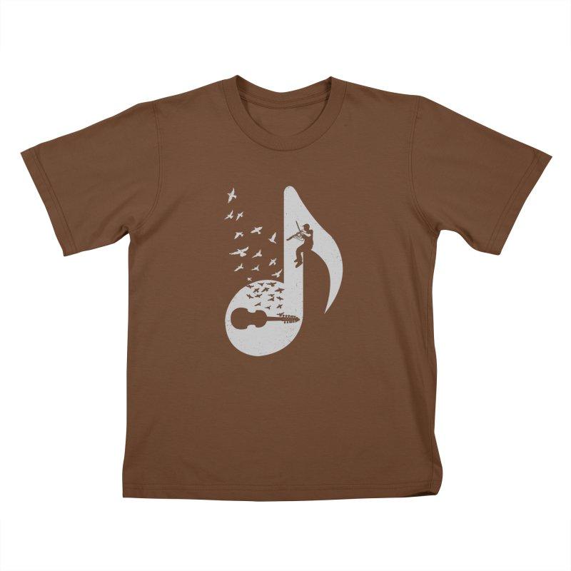 Musical note - Viola Damore Kids T-Shirt by barmalisiRTB