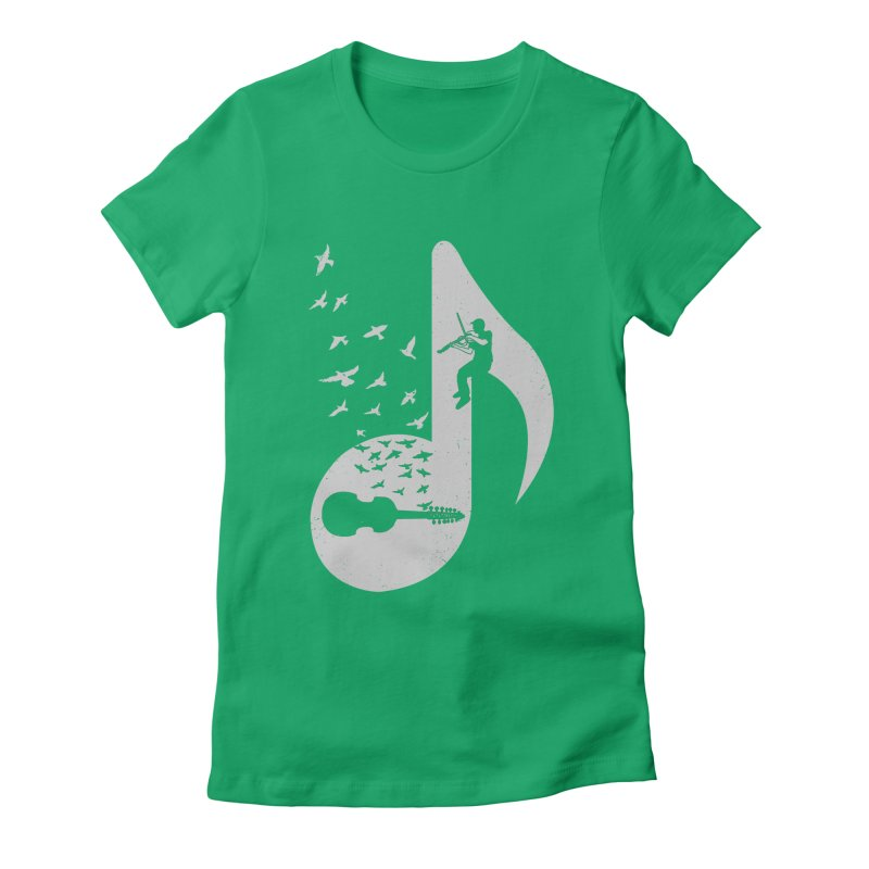 Musical note - Viola Damore Women's Fitted T-Shirt by barmalisiRTB