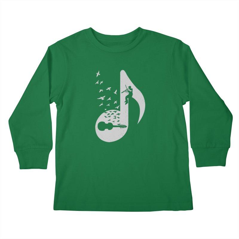 Musical note - Viola Damore Kids Longsleeve T-Shirt by barmalisiRTB