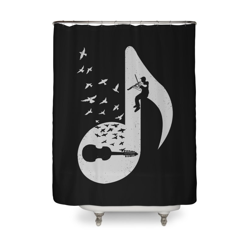 Musical note - Viola Damore Home Shower Curtain by barmalisiRTB