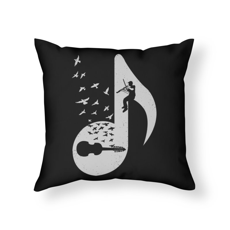 Musical note - Viola Damore Home Throw Pillow by barmalisiRTB