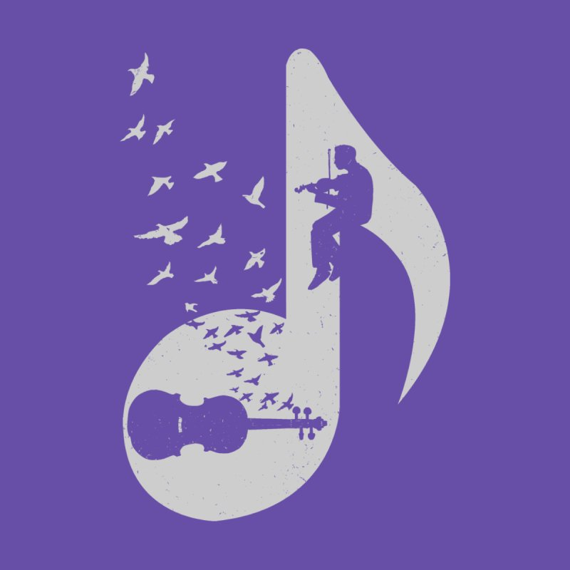 Musical note - Violin Women's T-Shirt by barmalisiRTB