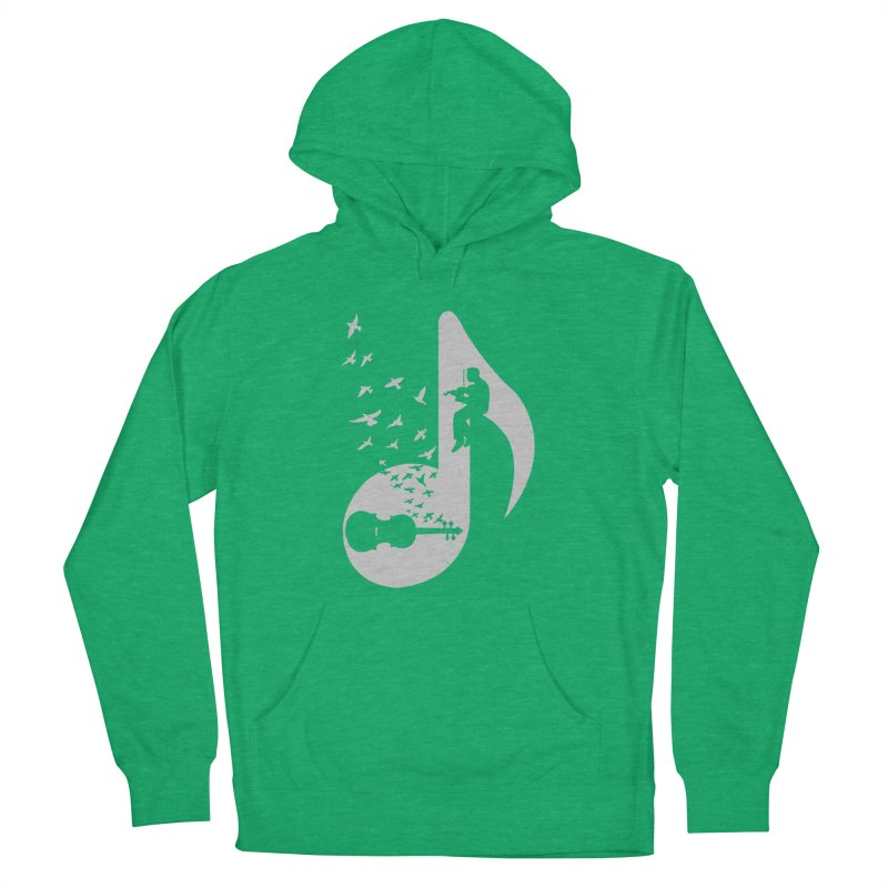 Musical note - Violin Men's French Terry Pullover Hoody by barmalisiRTB
