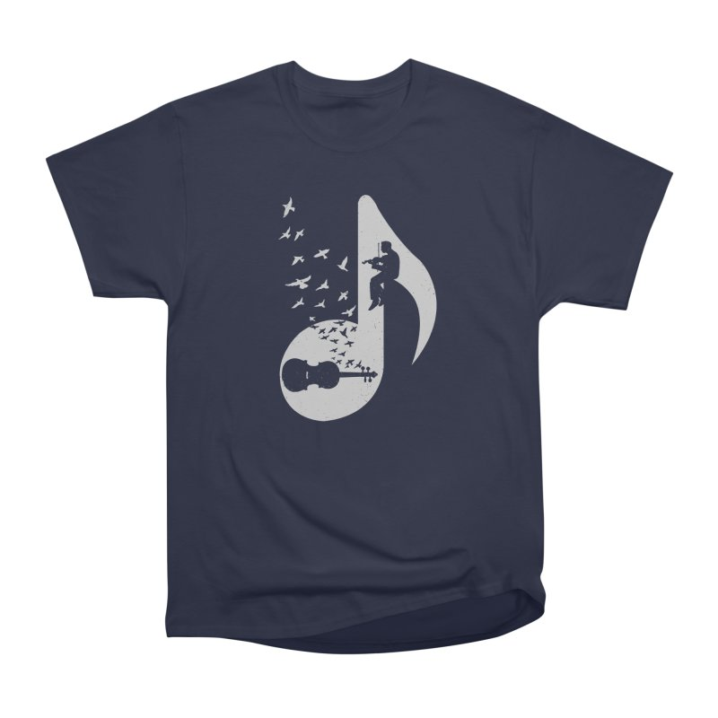 Musical note - Violin Men's Heavyweight T-Shirt by barmalisiRTB