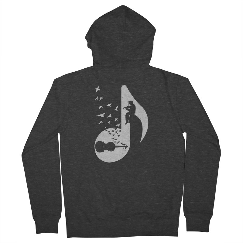 Musical note - Violin Women's French Terry Zip-Up Hoody by barmalisiRTB