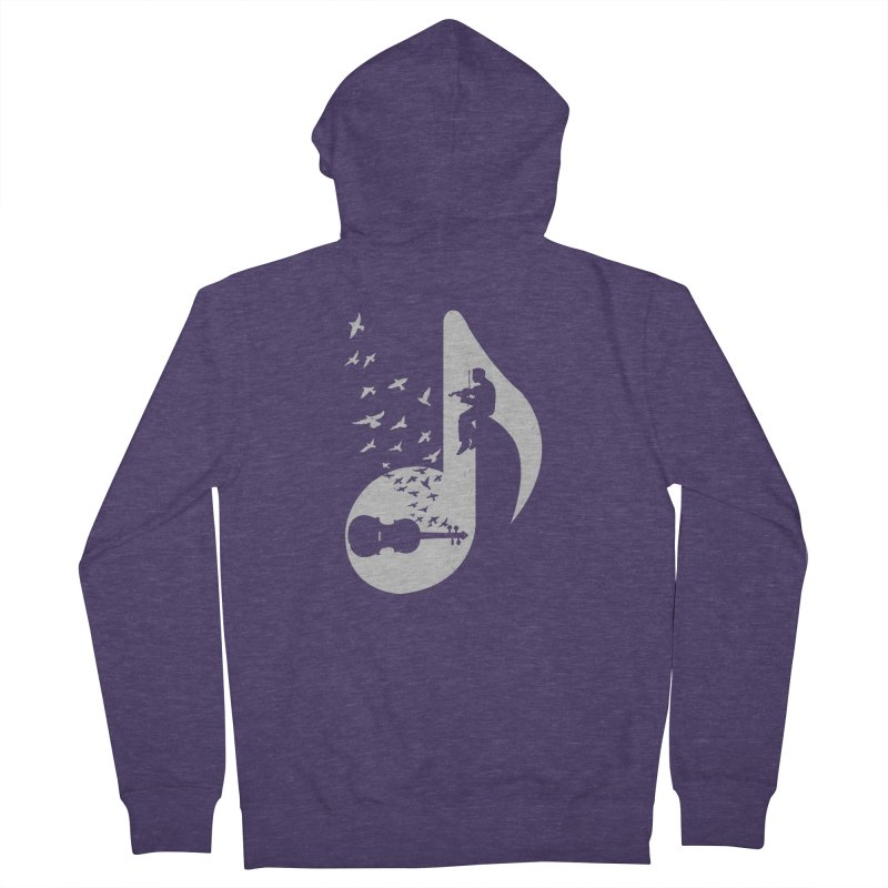 Musical note - Violin Men's French Terry Zip-Up Hoody by barmalisiRTB