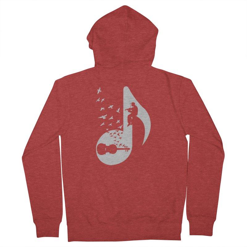Musical note - Violin Men's Zip-Up Hoody by barmalisiRTB
