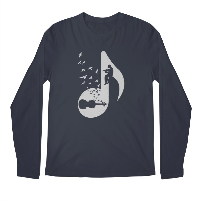 Musical note - Violin Men's Longsleeve T-Shirt by barmalisiRTB