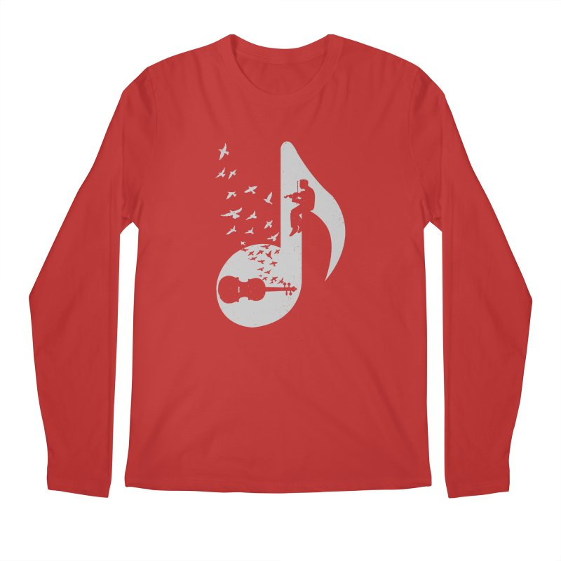 Musical note - Violin Men's Longsleeve T-Shirt by barmalisiRTB