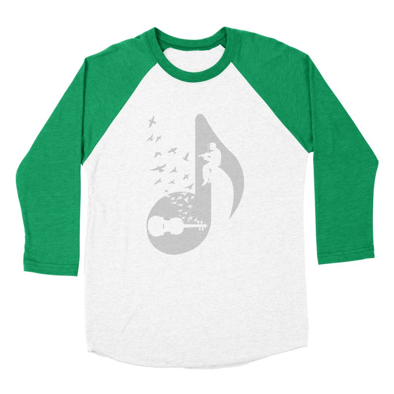 Musical note - Violin Women's Baseball Triblend T-Shirt by barmalisiRTB
