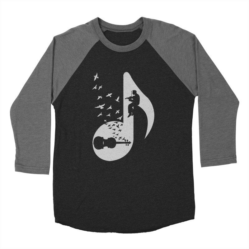 Musical note - Violin Women's Baseball Triblend Longsleeve T-Shirt by barmalisiRTB