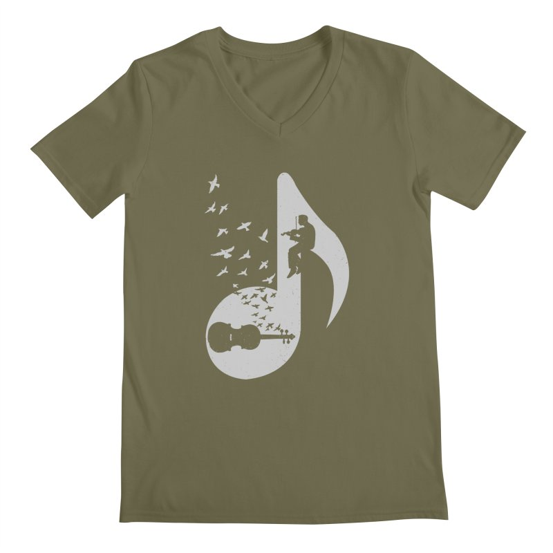 Musical note - Violin Men's V-Neck by barmalisiRTB
