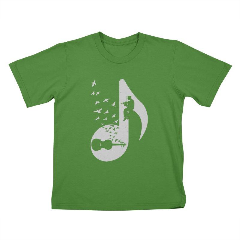 Musical note - Violin Kids T-Shirt by barmalisiRTB