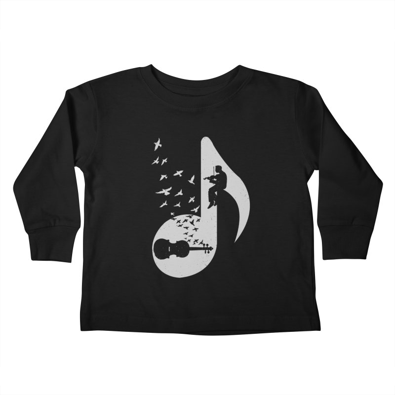 Musical note - Violin Kids Toddler Longsleeve T-Shirt by barmalisiRTB