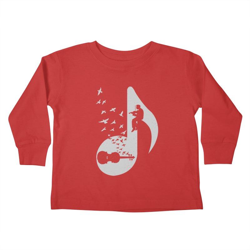 Musical note - Violin Kids Toddler Longsleeve T-Shirt by barmalisiRTB
