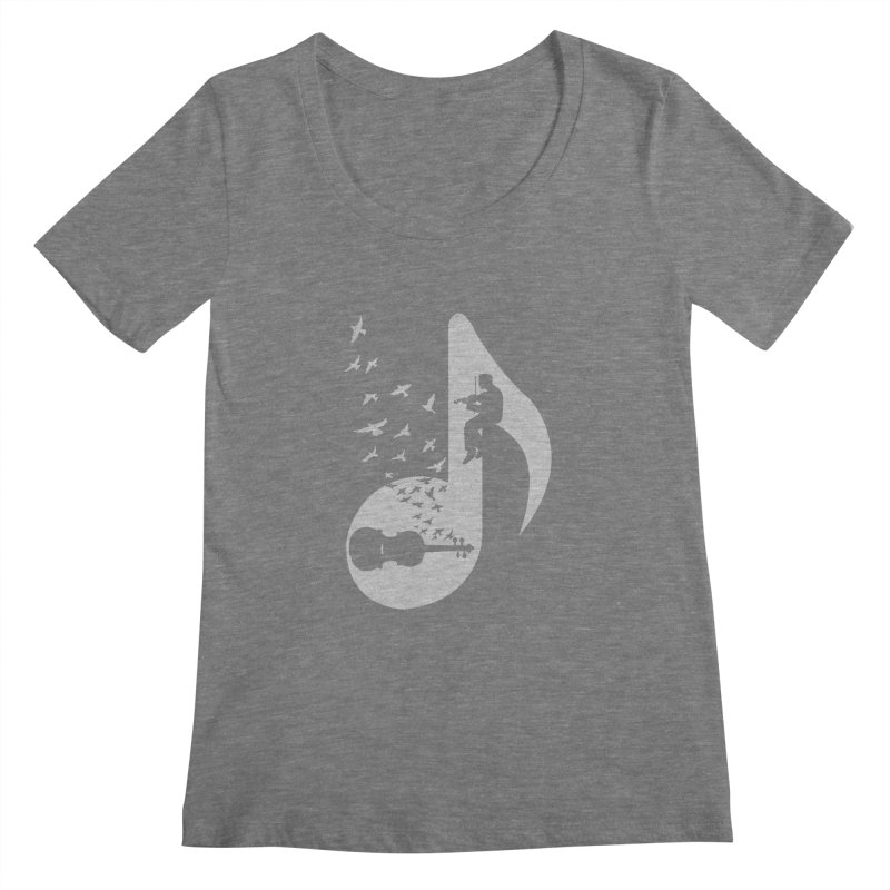 Musical note - Violin Women's Scoopneck by barmalisiRTB