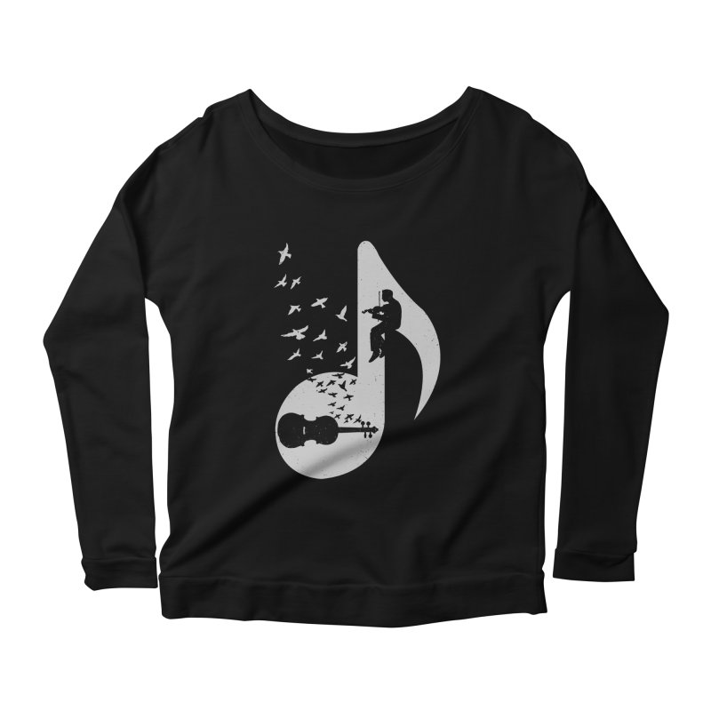Musical note - Violin Women's Longsleeve Scoopneck  by barmalisiRTB