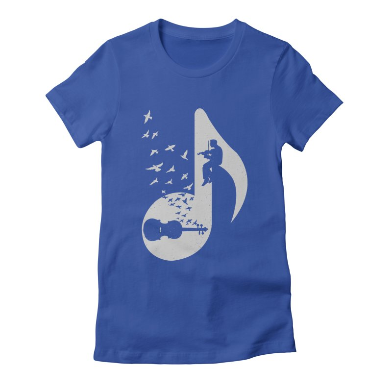 Musical note - Violin Women's Fitted T-Shirt by barmalisiRTB