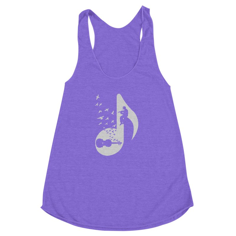 Musical note - Violin Women's Racerback Triblend Tank by barmalisiRTB