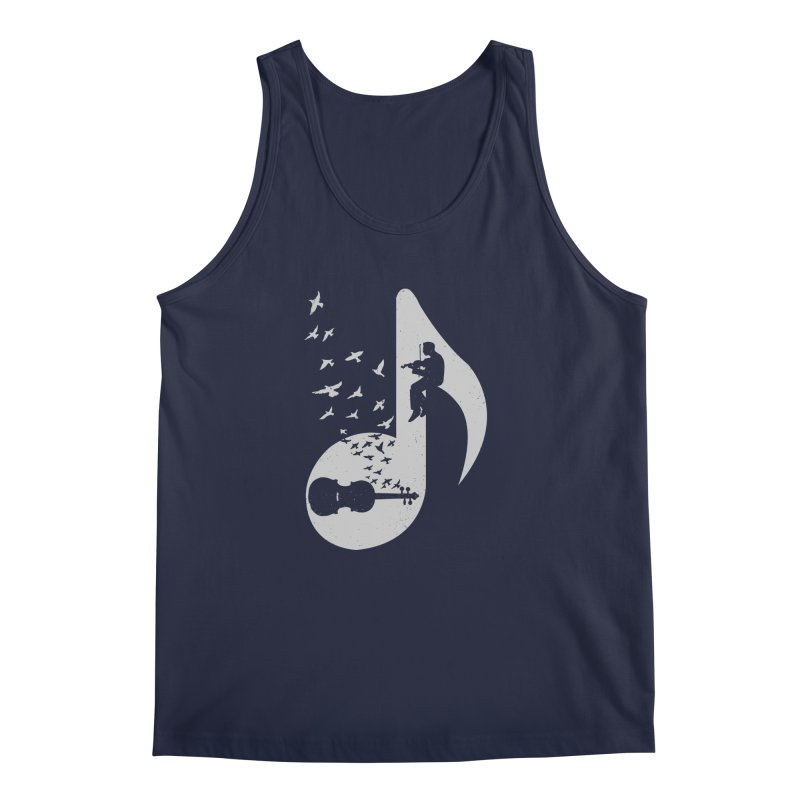 Musical note - Violin Men's Tank by barmalisiRTB