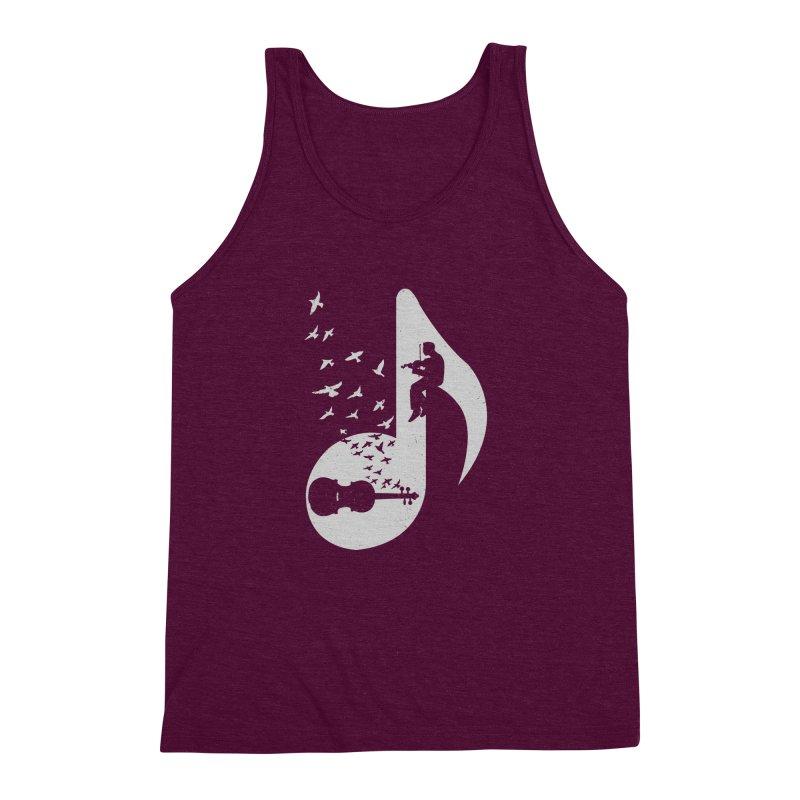 Musical note - Violin Men's Triblend Tank by barmalisiRTB