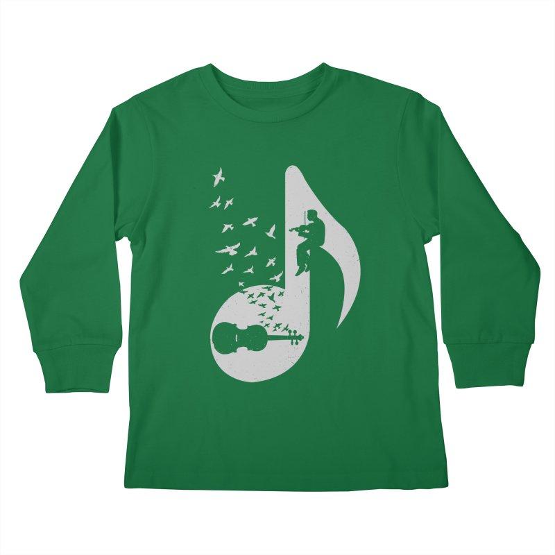 Musical note - Violin Kids Longsleeve T-Shirt by barmalisiRTB