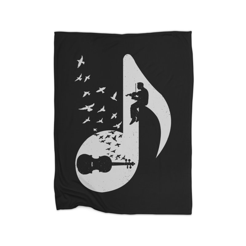 Musical note - Violin Home Blanket by barmalisiRTB