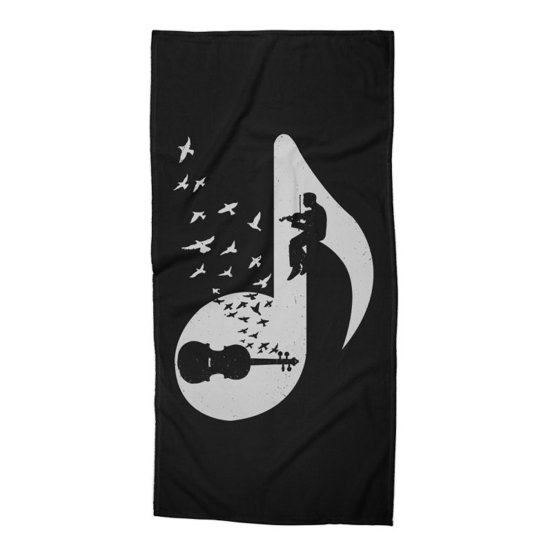 Musical note - Violin Accessories Beach Towel by barmalisiRTB