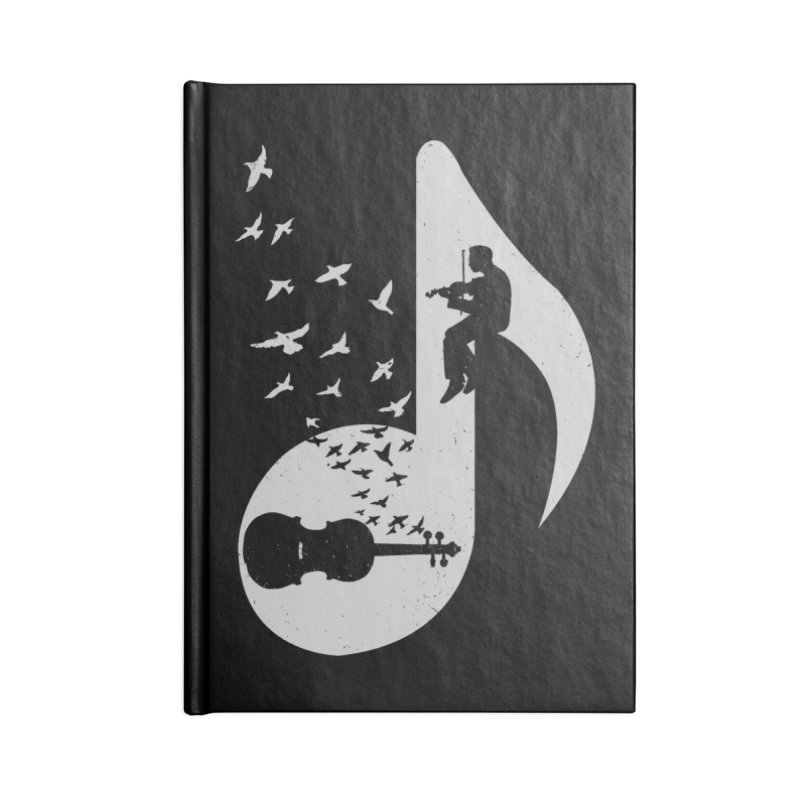 Musical note - Violin Accessories Notebook by barmalisiRTB