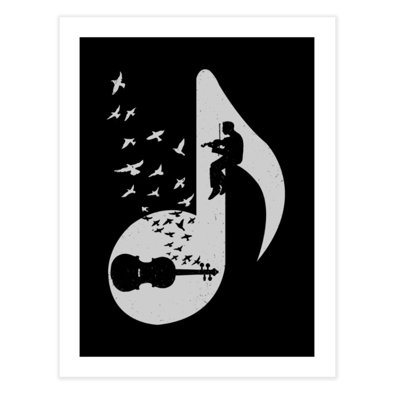 Musical note - Violin Home Fine Art Print by barmalisiRTB
