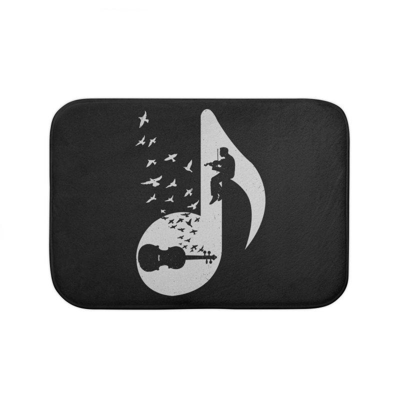Musical note - Violin Home Bath Mat by barmalisiRTB