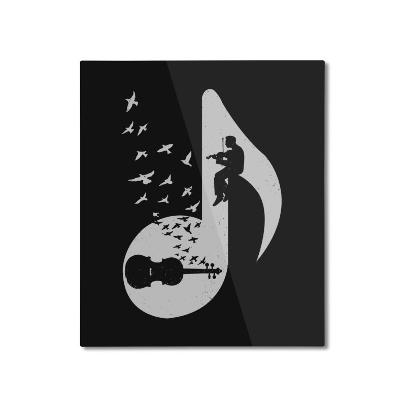 Musical note - Violin Home Mounted Aluminum Print by barmalisiRTB