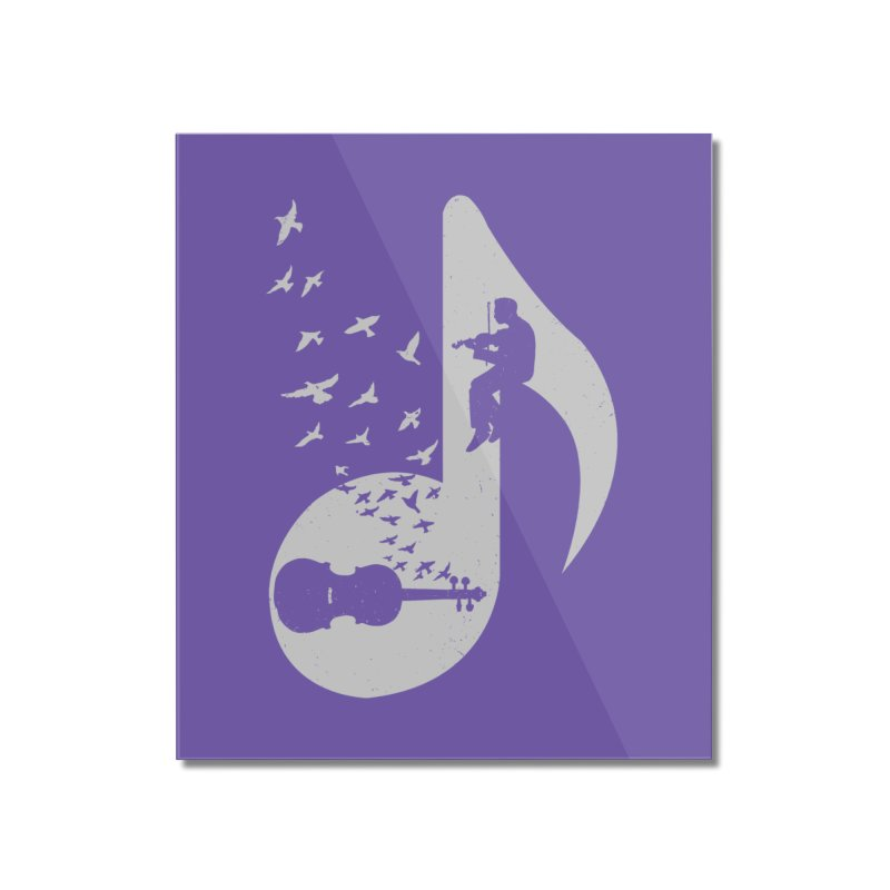 Musical note - Violin Home Mounted Acrylic Print by barmalisiRTB