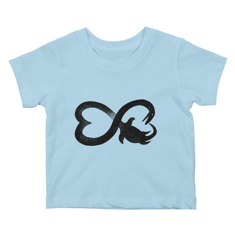 Elasmosaurus love Kids Baby T-Shirt by barmalisiRTB