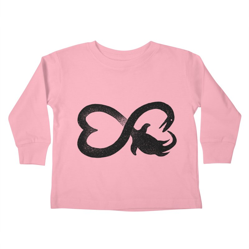 Elasmosaurus love Kids Toddler Longsleeve T-Shirt by barmalisiRTB