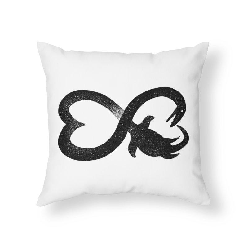 Elasmosaurus love Home Throw Pillow by barmalisiRTB