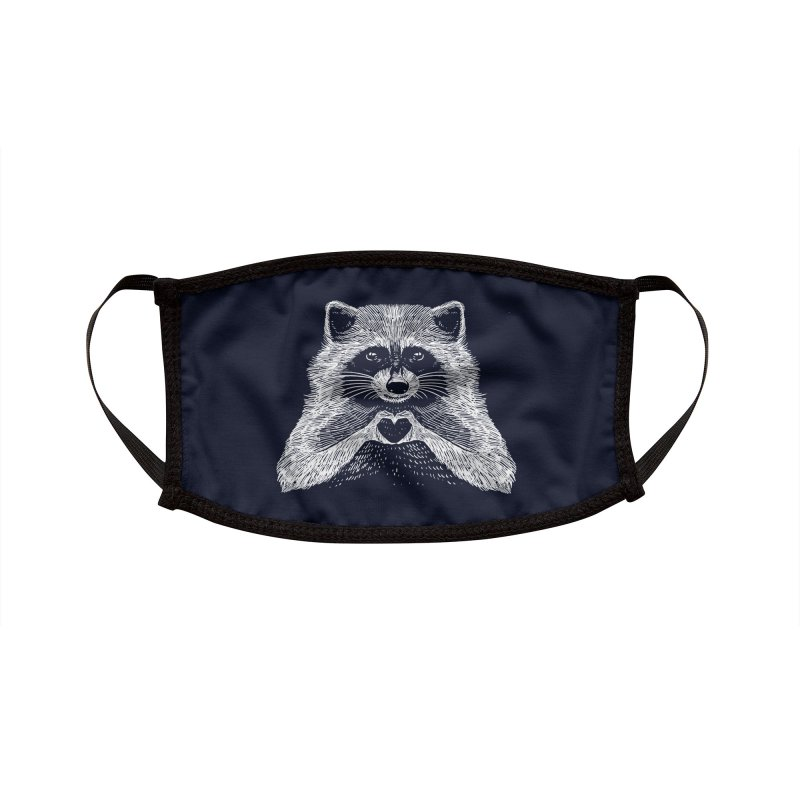 Love Raccoon Accessories Face Mask by barmalisiRTB