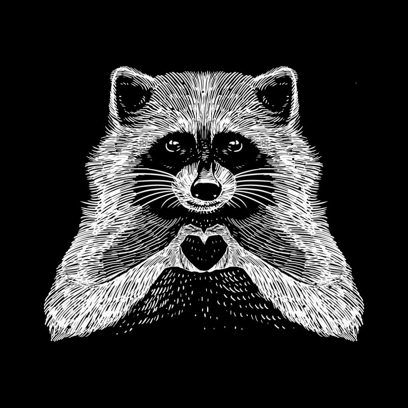 Love Raccoon Kids T-Shirt by barmalisiRTB