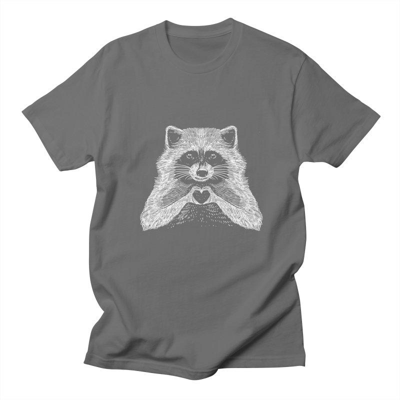 Love Raccoon Men's T-Shirt by barmalisiRTB